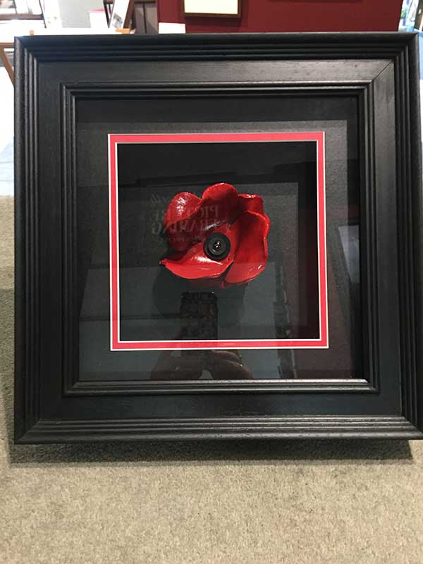 Framing Example - Framed Poppy