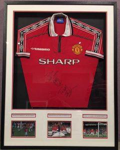 Framing Example - Football Shirt in Frame