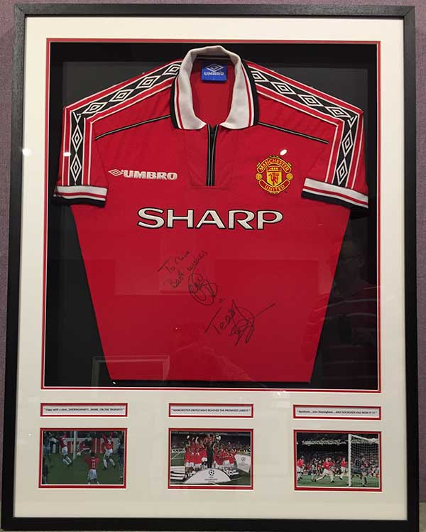 Framing Example - Football Shirt in Frame