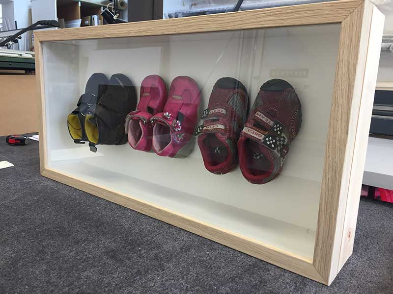 Framing Example - Child's Shoes in Frame