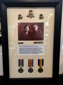 Framing Example - War Medals in Frame