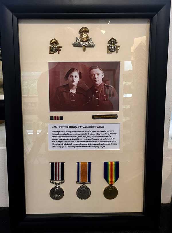 Framing Example - War Medals in Frame