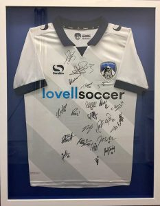 Framing Example - Signed Football Shirt in Frame