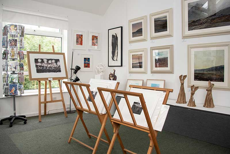 Inside Millyard Gallery, Uppermill, Saddleworth