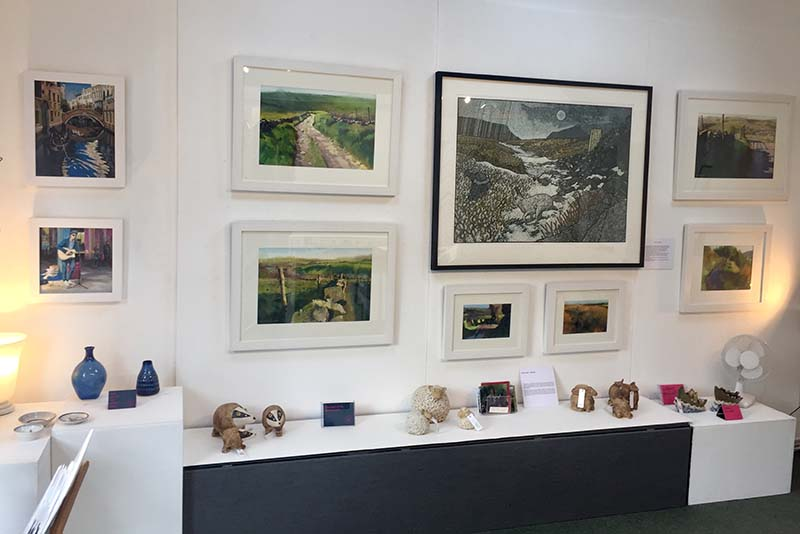 Exhibtion on display inside Millyard Gallery